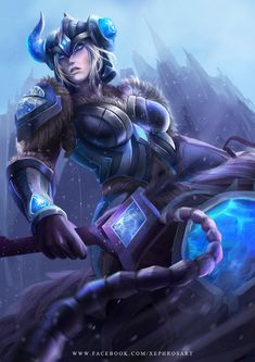 League of Legends: Sejuani the Winter's Wrath by XephrosART