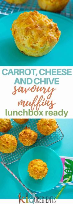 Kids Meals These carrot cheese and chive muffins are perfect for the lunchbox and great as an alternative to a sandwich. Make in advance and store in the freezer for the ultimate grab and go lunchbox ready snack! Carrot Muffins, Savory Muffins, Savory Snacks, Healthy Snacks, Healthy Recipes, Healthy Appetizers, Healthy Kids, Healthy Living, Lunch Box Recipes