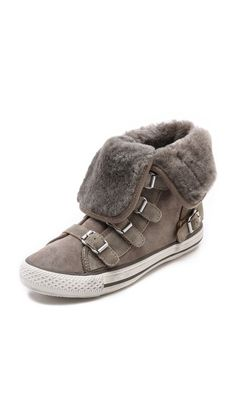 Ash Visby Shearling High Top Sneakers.  Gorgeous!!!