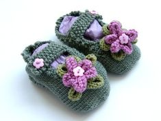 PDF Pattern for Knitted Baby Slippers by handylittleme on Etsy, $5.00