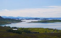 View over Summer Isles, North West Highlands of Scotland