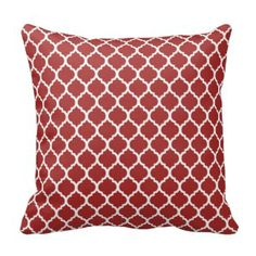 Shop Dark Red Quatrefoil Throw Pillow created by Couples_Shower_Shop. Red Throw Pillows, Accent Pillows, Decorative Throw Pillows, Decor Pillows, Dark Red, Red And White, Quatrefoil Pattern, White Patterns, Custom Pillows
