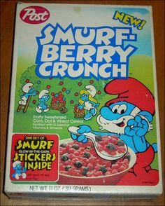 Smurf-berry crunch is good to eat!