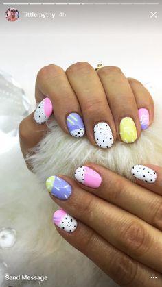 Nail Design Stiletto, Nail Design Glitter, Funky Nails, Cute Nails, Pretty Nails, Acrylic Nail Designs, Nail Art Designs, Acrylic Nails, Hair And Nails