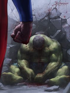 Superman vs the Hulk - Jee-Hyung Lee