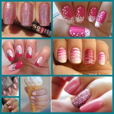 Outra sugestão para madrinhas, esmalte rosa!