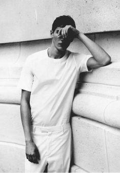 "russian-boys: ""Matvey Lykov by Bruno Werzinski in Dior Homme for Hunter magazine "" Streetwear, Minimal Fashion, White Fashion, Russian Boys, I Love Ugly, Neue Outfits, Ex Machina, Fashion Photography Inspiration, Looks Style"