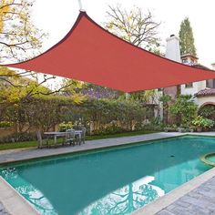 Square Sun Shade Sail UV Blocking Outdoor Patio Lawn Garden Canopy Cover 2 Color Optional(Red /Desert Sand)l Garden Canopy, Patio Canopy, Canopy Outdoor, Awning Canopy, Garden Awning, House Canopy, Ikea Canopy, Patio Fence, Arquitetura