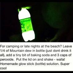 Homemade glow stick!