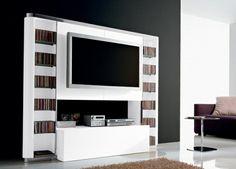 TV Schrank in Weiß