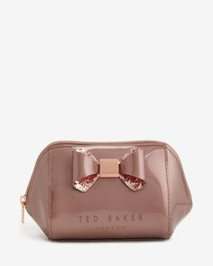 Small bow trim wash bag - Pink | Gifts for Her | Ted Baker