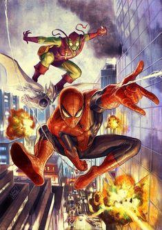 Hot Toys Spiderman, Spiderman Art, Amazing Spiderman, Goblin Art, Green Goblin, Marvel Comic Character, Marvel Art, Marvel Comics, Comic Movies