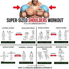 Want BIGGER Shoulders? Try this workout LIKE/SAVE IT if you found this useful. FOLLOW @musclemorph_ for more exercise & nutrition tips . *A Superset is when you do two exercises back to back with no rest between them . TAG A GYM BUDDY . ✳Enhance your prog
