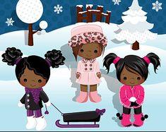 Patinaje sobre Clipart invierno al aire libre gráficos hielo