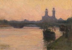 Henry Ossawa Tanner, The Seine, 1902.  Learn more about this artist at the National Gallery of Art in Washington, DC.