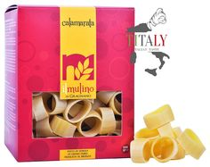 CALAMARATA GRAGNANO PASTA PGI 500gr - IL MULINO DI GRAGNANO  The Calamarata pasta Gragnano PGI is a type of traditional pasta in Naples so called because the shape is similar to the squid cut into rings. Excellent cooked with seafood and cherry tomatoes piennolo from Vesuvius.