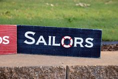 ⚓Sailors Painted Wood Signs, Custom Wood Signs, Sailors, Flip Clock, Custom Paint, Painting On Wood, Home Decor, Decoration Home, Room Decor