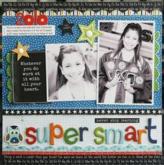 Super Smart #layout by Laura Vegas #scrapbook #BellaBlvd