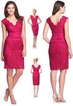 $328 Tadashi Shoji Lotus Pink Embroidered Lace Banded Waist V-Neck Dress  #TadashiShoji #Lace #Cocktail Mom Dress, V Neck Dress, Lace Dress, Mothers Dresses, Formal Evening Dresses, Embroidered Lace, Tadashi Shoji, Fashion Outfits, Clothes For Women