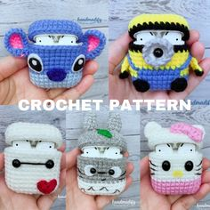 Crochet Sloth, Kawaii Crochet, Cute Crochet, Crochet Case, Crochet Food, Diy Crochet Projects, Knitting Projects, Crochet Designs, Knitting Designs
