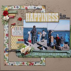 #papercraft #scrapbook #layout Summer Fresh Layouts by Wendy Smith