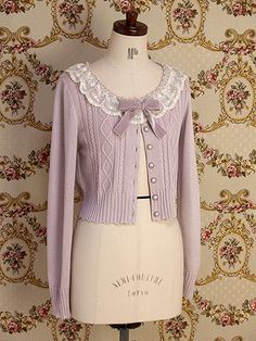Mary Magdalene Lace Macaron Cardigan in Cloudy Rose