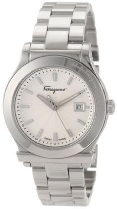 Salvatore Ferragamo Women's F63SBQ9902 S099 1898 Steel Bracelet Date Watch -