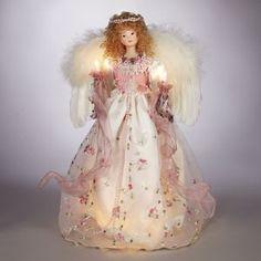 Pre-Lit Angel Christmas Tree Topper Item #UL2187  Angel is wearing ...