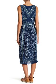 Linen-Blend Embroidered Print Dress by Lucky Brand on @nordstrom_rack