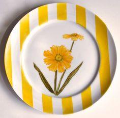 Aparelho Flores - prato sobremesa amarelo
