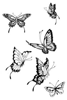 original design of a large butterfly tattoos. Black Bedroom Furniture Sets. Home Design Ideas