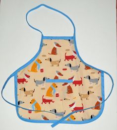 """#Dog #Toddler #Apron, Dog kids apron, """"sick"""" dogs  toddler  aprons, 14.25 in. long X 14.5 in. wide, by beckyspillowshop on Etsy#"""