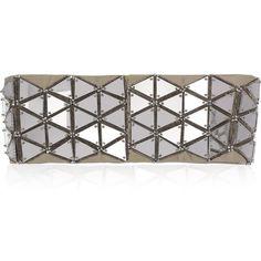 Matthew Williamson Mirror-Embellished Satin Waist Belt (£179) found on Polyvore
