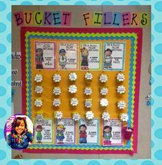 One Fab Teacher's Bucket Filler board. Adorbs