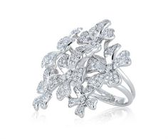 Wild Flower Crystal Ring. Wear with #jovani style 2204