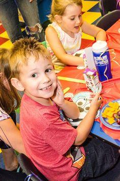 Enjoying my birthday party at Little Monkey Bizness!  coloradosprings.monkeybizness.com