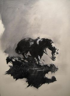 Title: 	Black and white study of Horse Artist: 	 Grindberg (All) Media Type: 	Paint - Oil Art Type: 	Other For Sale Status: 	NFS