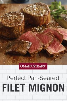 Cook a perfect pan-seared filet mignon steak in just 10 simple steps. Sear your filet mignon in a cast iron, copper core, or carbon steel pan and finish in the oven for a perfect, juicy steak every time. Best Filet Mignon Recipe, Pan Seared Filet Mignon, Perfect Filet Mignon, Filet Steak, Filet Mignon Steak, Cast Iron Filet Mignon, Filet In The Oven, Copper Cooking Pan, Cast Iron Steak
