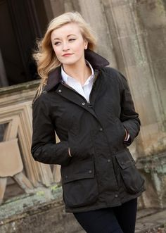 Barbour Ladies Classic Beadnell Jacket - Olive- A Hume