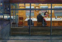 Ruben Monakhov. Barber. Oil on canvas, 65х95 cm.,  2015.  http://rubenm.spb.ru