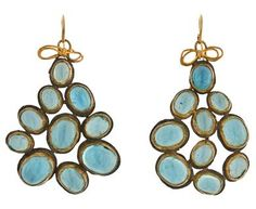 Judy Geib | Aquamarine Excessive Earrings in Designers Judy Geib Earrings at TWISTonline