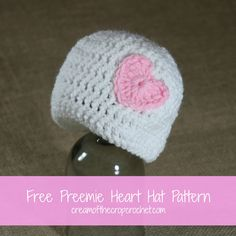 What a precious preemie hat?! This hat is very simple and cute. If you are looking for a preemie pattern to use, to make several for donation this is the pattern to use!