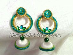 Silk Thread Jhumkas, Silk Thread Bangles Design, Silk Thread Necklace, Beaded Necklace Patterns, Thread Jewellery, Fabric Jewelry, Jewelry Patterns, Pearl Necklace, Bead Crafts