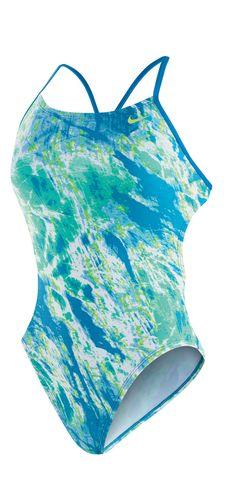 NIKE SWIM Female Acid Wash Cut-Out Tank (Blue Lagoon (459))