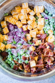 Potluck Side Dishes, Side Dishes For Bbq, Summer Side Dishes, Vegetable Side Dishes, Side Dish Recipes, Chef Recipes, Southern Side Dishes, English Pea Salad, English Peas