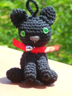 Lucky poesje Moortje.  Deze heb ik speciaal voor iemand gemaakt die een zwarte kat heeft.