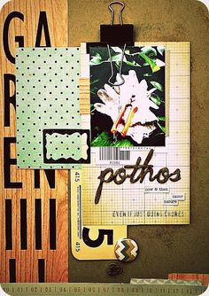 Pothos layout using Studio Calico's Stepping Stone and Daydream Believer kits