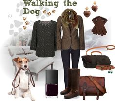 """""""Walking the Dog"""" by oscarena ❤ liked on Polyvore"""