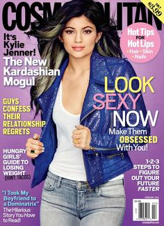 Pin for Later: Kim Kardashian Took On a Designer Dare For Love Magazine Cosmopolitan February 2015 Kylie Jenner photographed by Eric Ray Davidson.