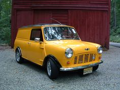 Austin Mini Van I had one this colour, AA Yellow.
